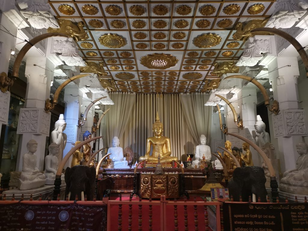 Temple of the tooth i Kandy i Sri Lanka
