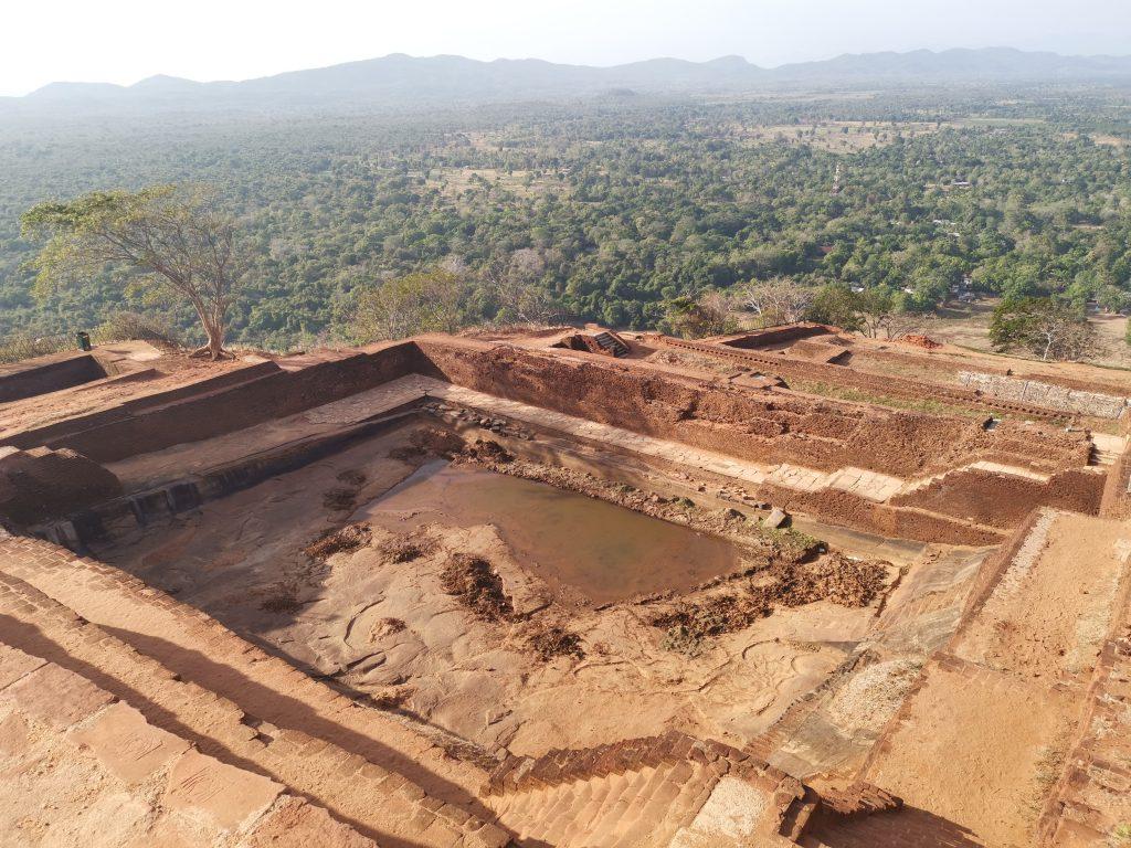 På toppen av Sigiriya - Lion Rock