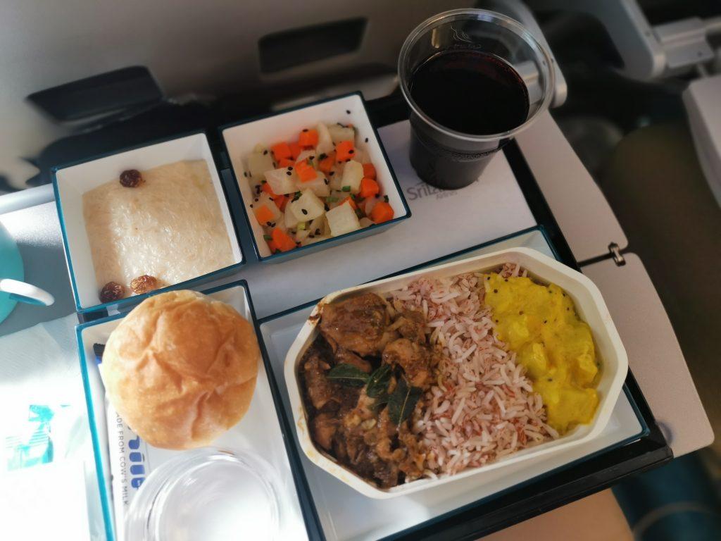 Mat och dryck på Sri Lankan airlines