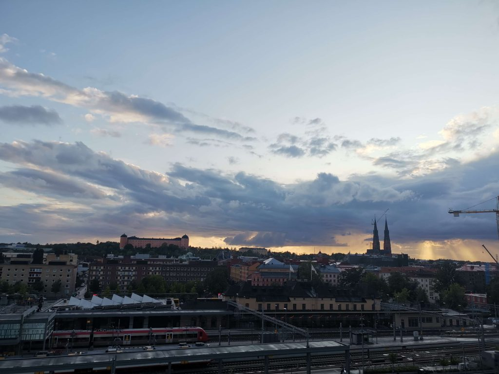 Radisson Blu Uppsala utsikt från balkongen