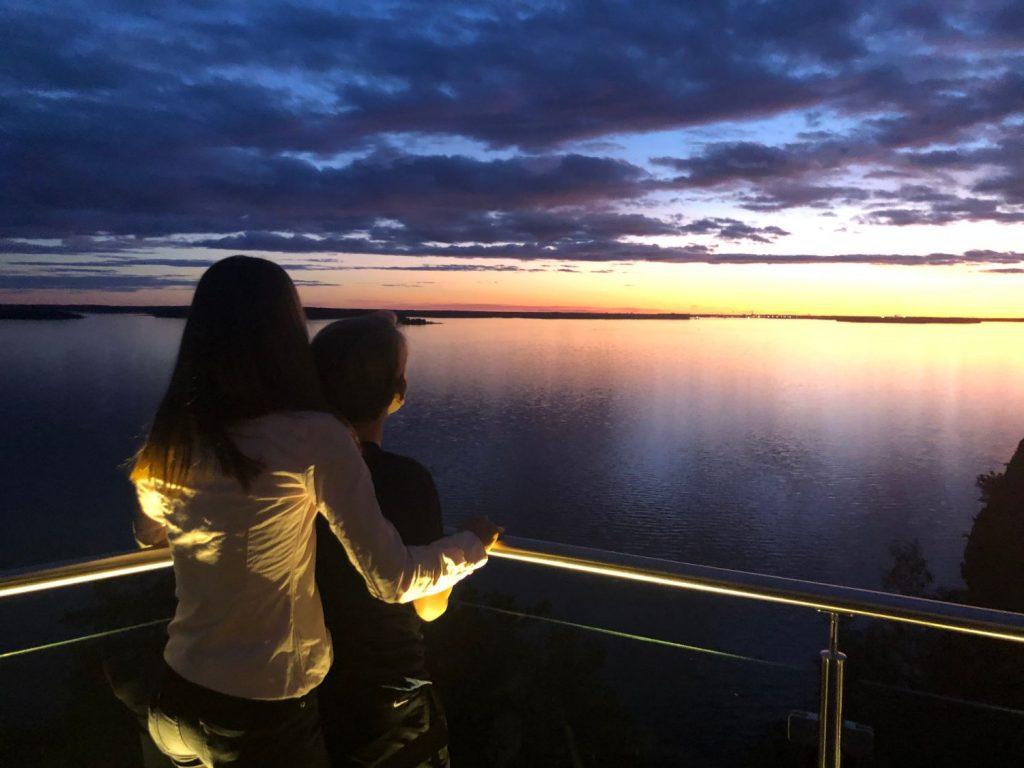 Weekend på Kolmården- utsikt från Vildmarkshotellets terrass