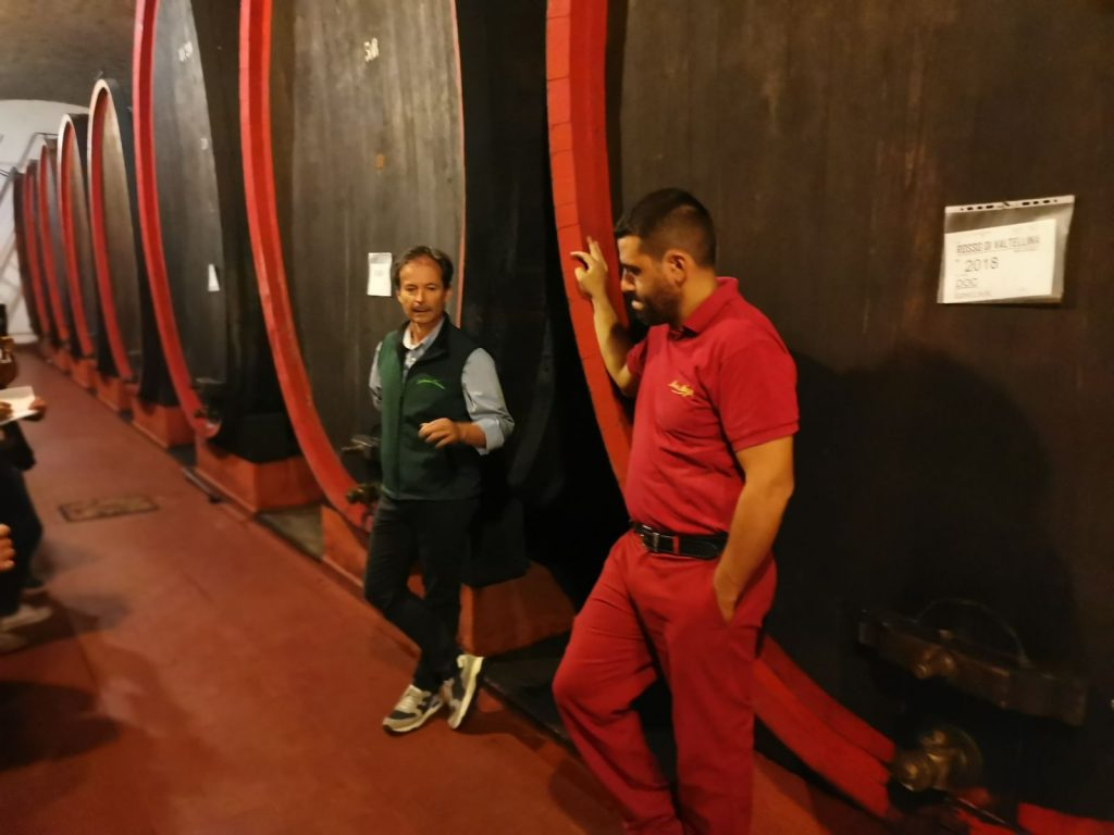 Vinkällaren hos Nino Negri i Valtinella