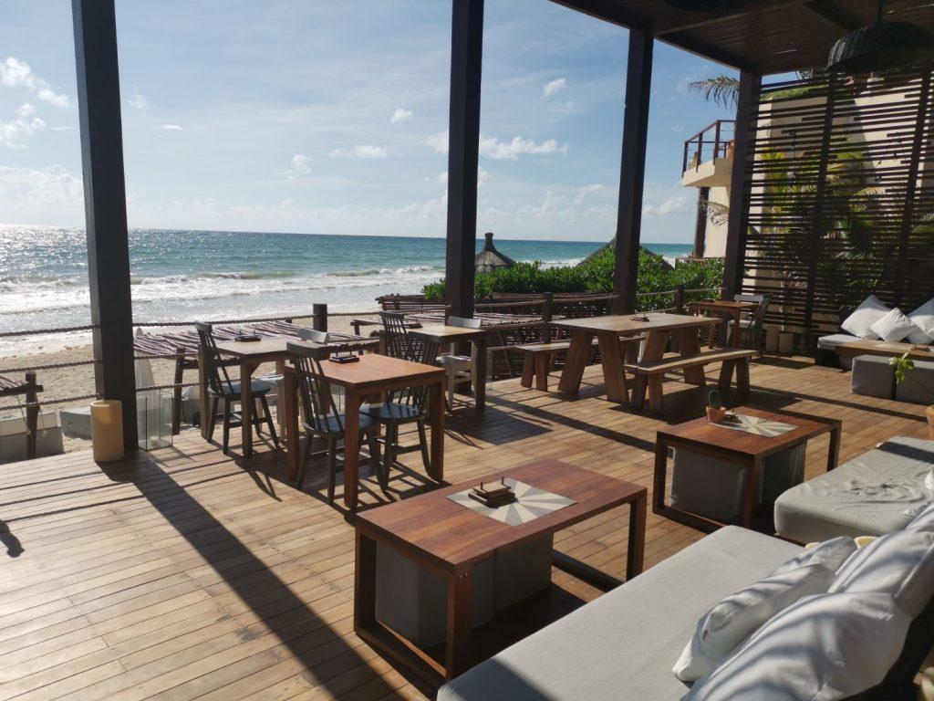 The real coconut Tulum - ren, nyttig mat vid stranden