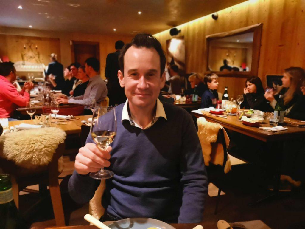 Middag på La Rouge Restauranger i Verbier