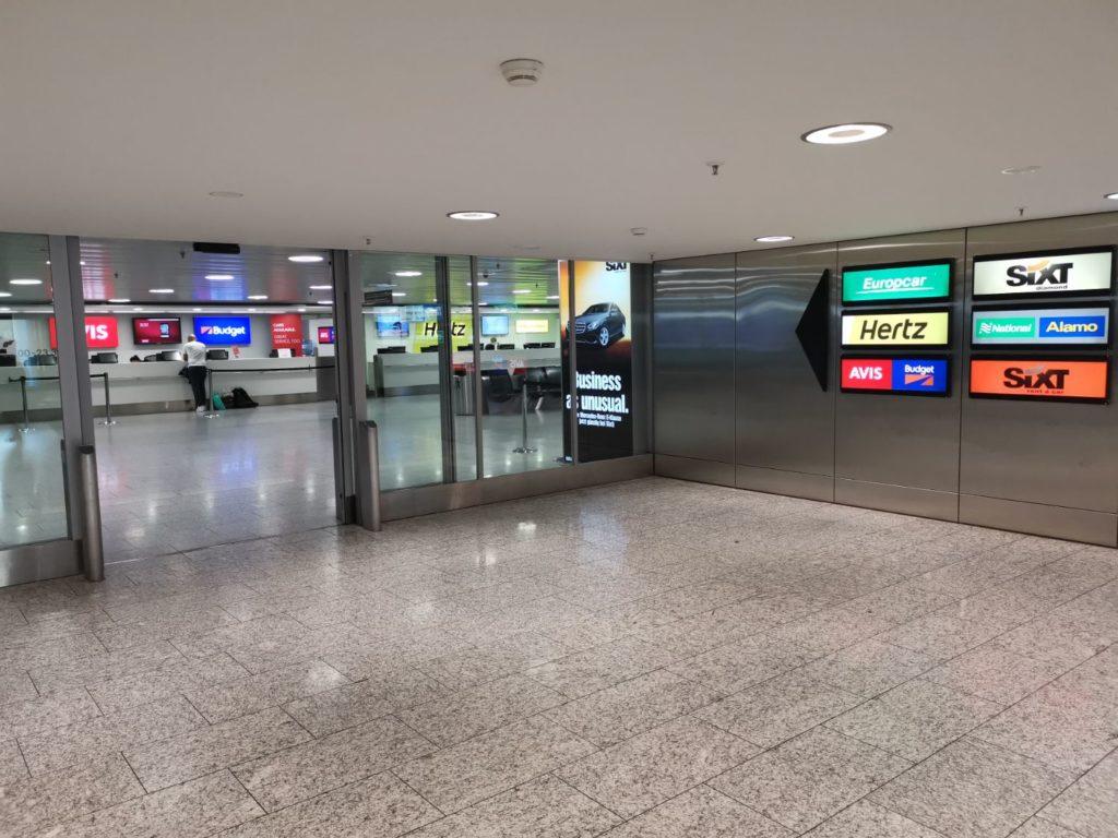 Hyrbilsfirmor på Zurich flygplats