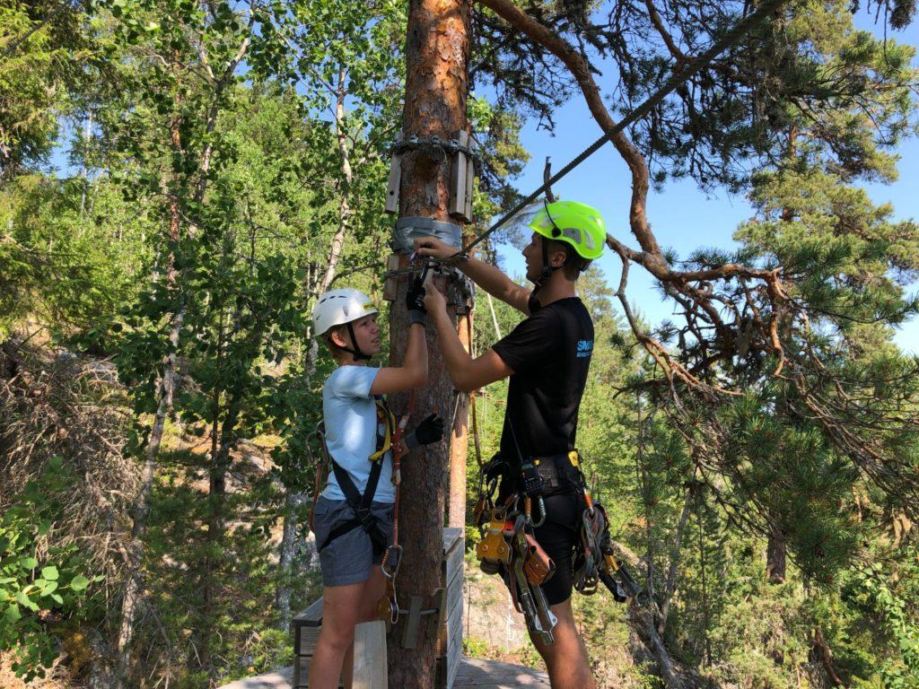 Orbaden Zip and Climb Höghöjdsbana