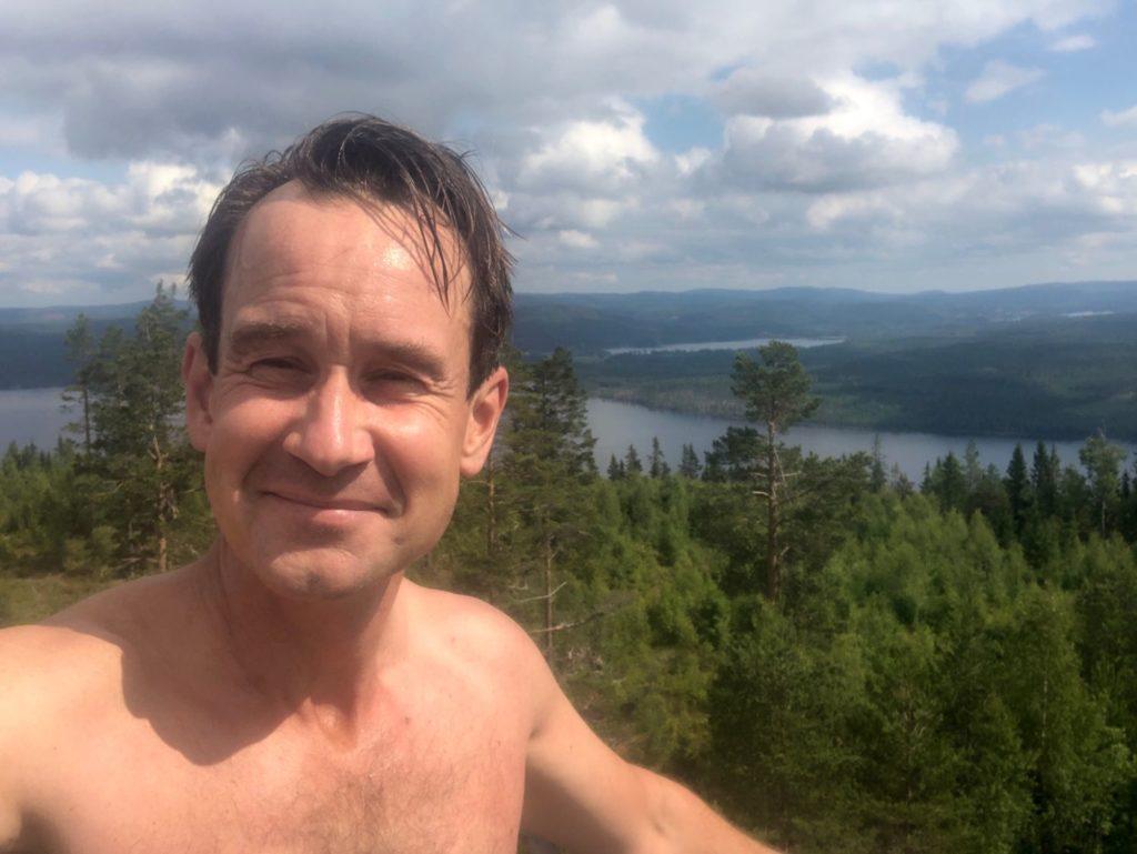 Promenad till Åsbergets topp