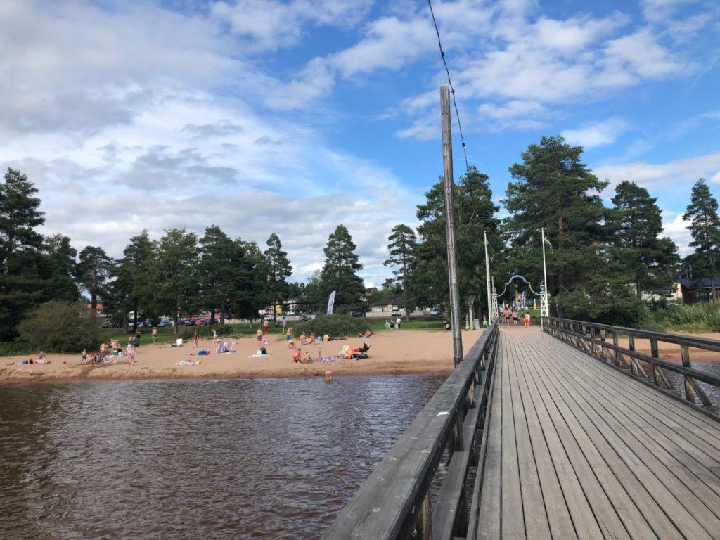 Världens längsta insjöbrygga - Långbryggan i Rättvik