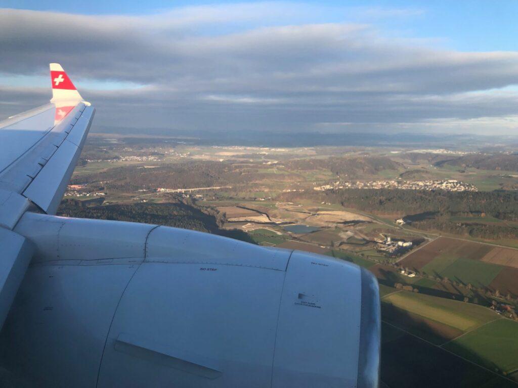 Flyget till Zurich
