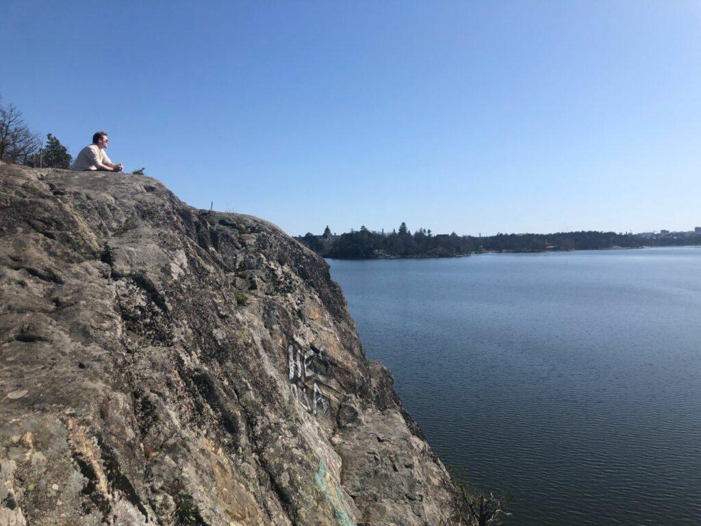 Brunnsviken Runt klippa