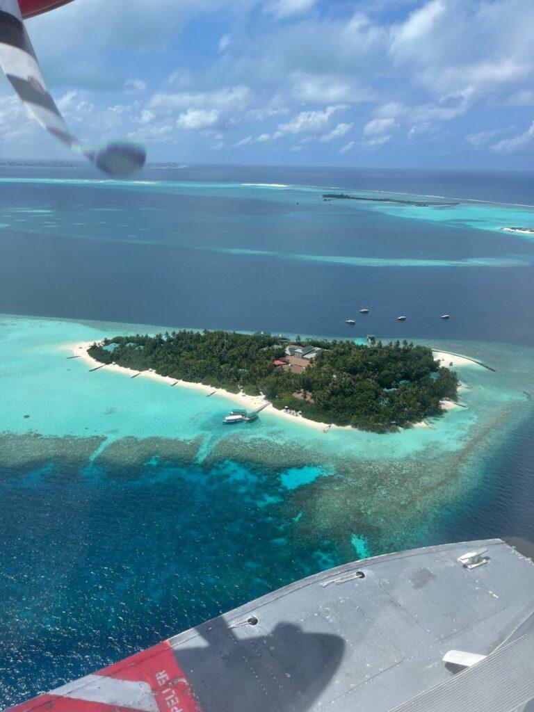 Sjöflygplan på Maldiverna  utsikt