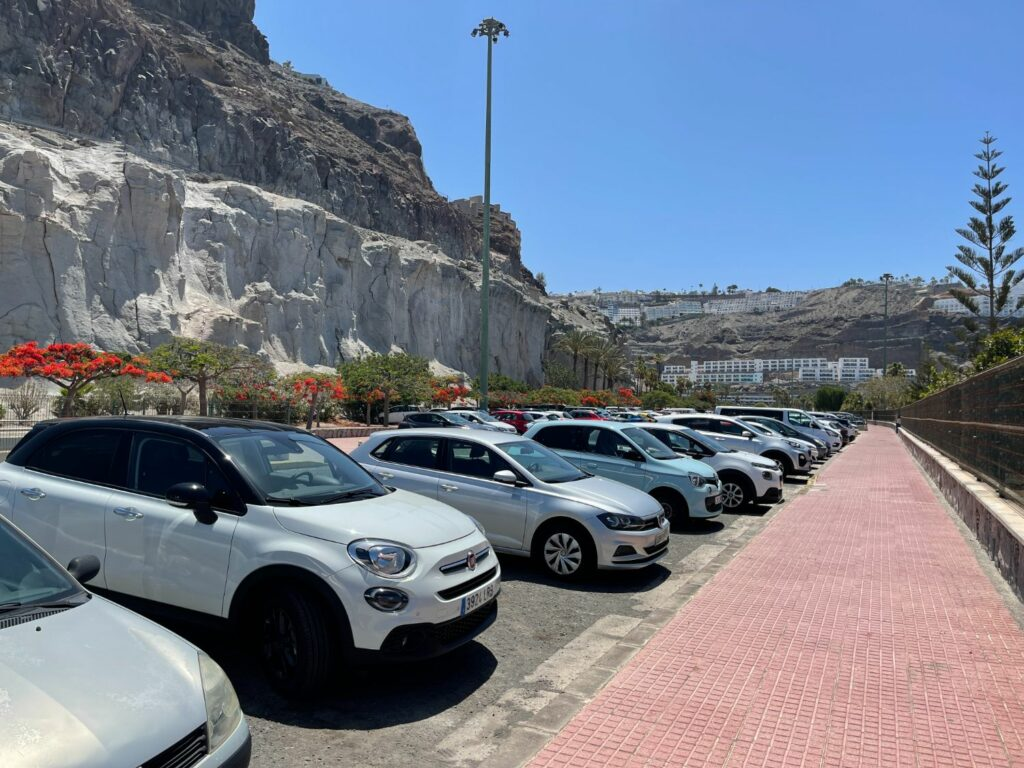 Parkering på Playa De Amadores