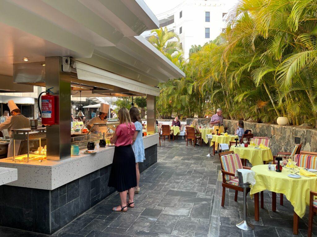 Restaurangen på Seaside Palm Beach