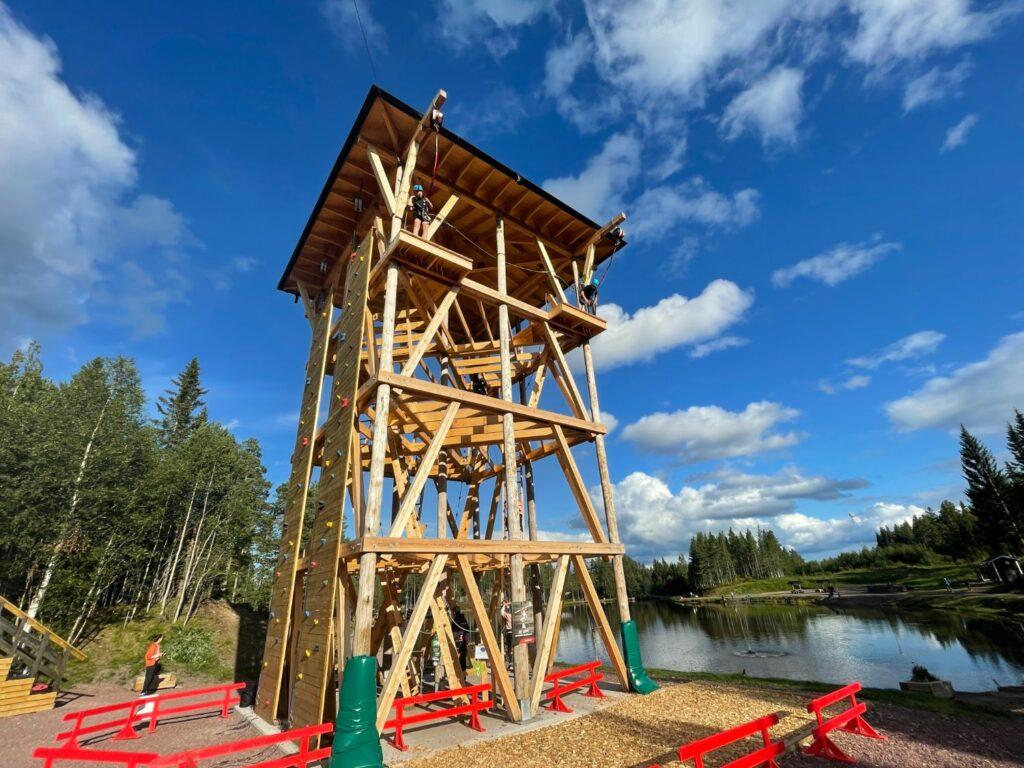 Ny klätterpark i Sälen vid Svansjön i Lindvallen